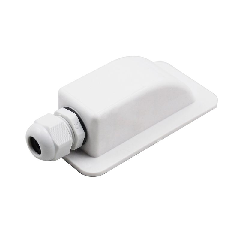 ABS Solar RV Yacht Stand Roof Duct Cable Entry Round Junction Box White