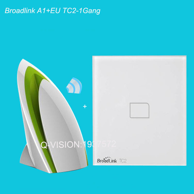 Broadlink tc2 a1 detector de aire + de la ue 1/2/3 gang inalámbrico de casa inteligente controlador wifi luz de la pared sistema de control de interruptor de automatización app