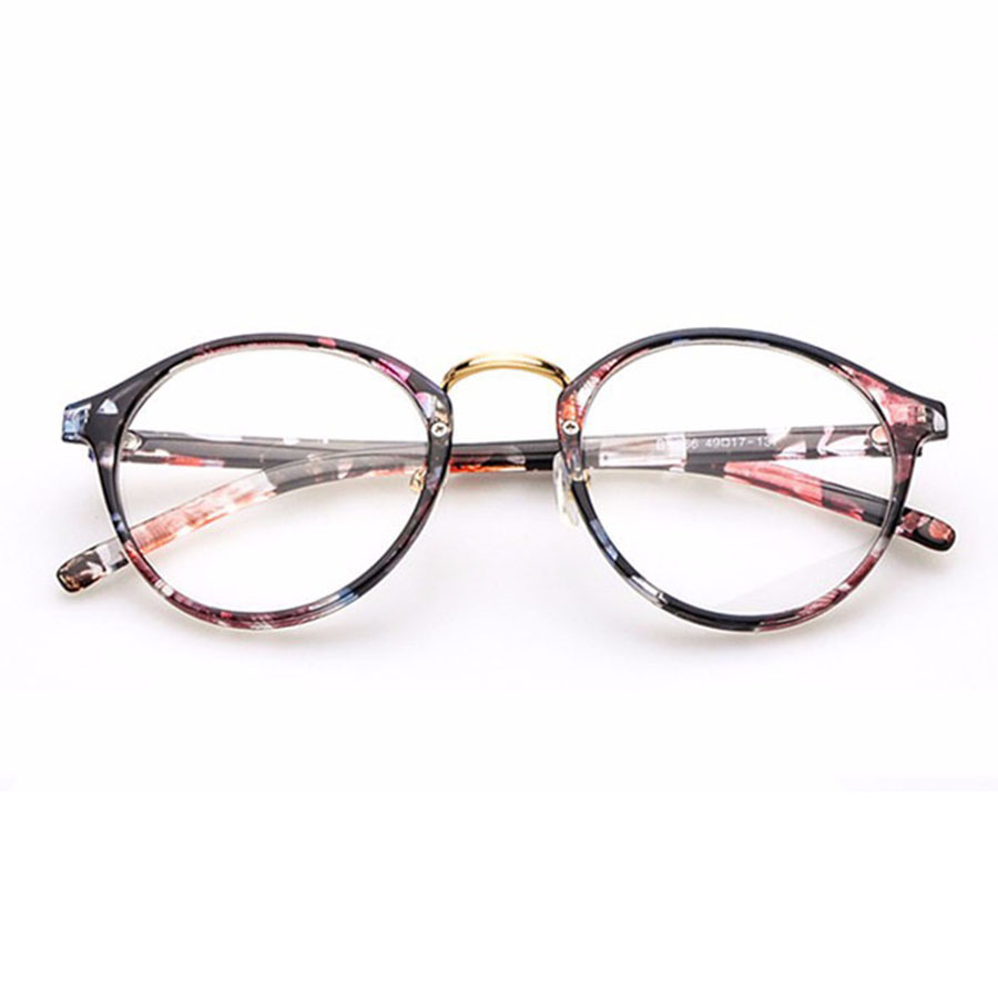 Cute Style Vintage Glasses Women Glasses Frame Round ...
