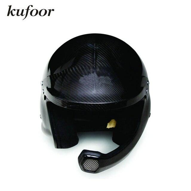 Snell Sah2010 Homologation Glossy Black Carbon Fiber Car Racing Helmet Motorcycle Racing Helmet