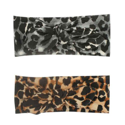 2019 детская эластичная бандажная повязка для маленьких девочек с бандажем и леопардовым принтом, шляпа с бантом, кепка, резинки для волос, головной убор