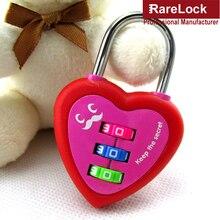 Rarelock MMS432 Wedding Number Code Combination Padlock Password Love Lock For Box Lover Gift Travel Bag Backpack Locker