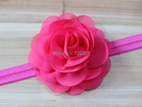 rose flower headband silk rose flower headband 18color U pick 36pcs/lot