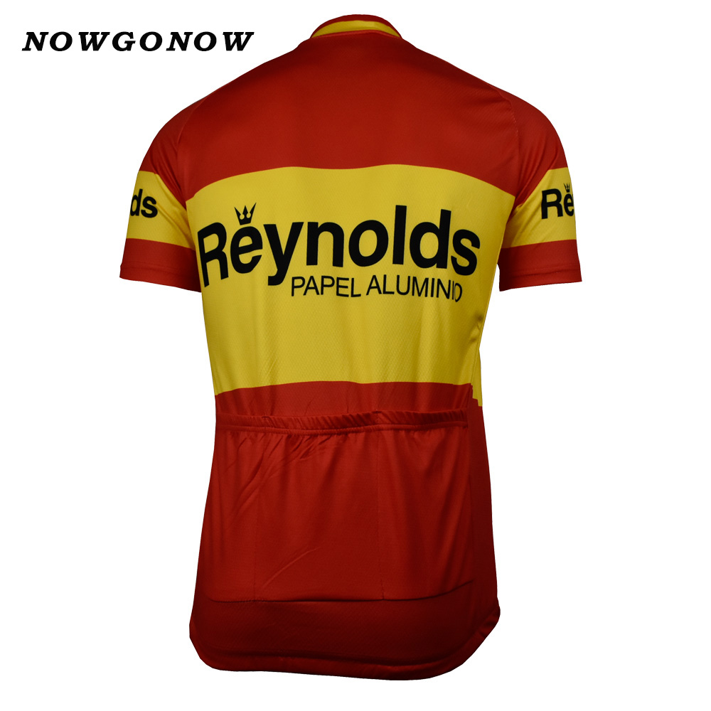 NOWGONOW 2017 Cycling Jersey Retro men yellow white red pro team Clothing  Bike Wear MTB road top Maillot 3 style summer with NO.-in Cycling Jerseys  from ... 674368d26