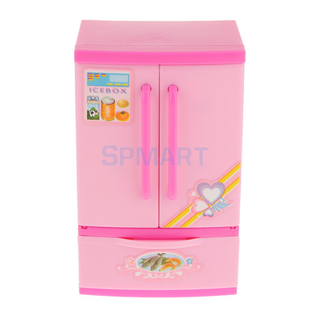 Lovely Children Girls Toy Refrigerator Kitchen Pretend Play ...