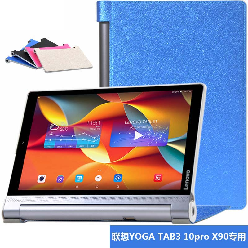 Fashion Ultra Slim Silk Original Stand Flip PU Leather Sleeve Cover Case For Lenovo Yoga Tablet Tab 3 Pro 10 X90 YT3-X90F X90M/L