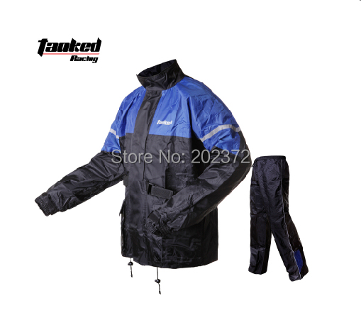 Tanked TRC16 blue black men's raincoat,fishing motorcycle riding raincoats impermeable rain jacket benkia motorcycle rain jacket moto riding two piece raincoat suit motorcycle raincoat rain pants suit riding pantalon moto