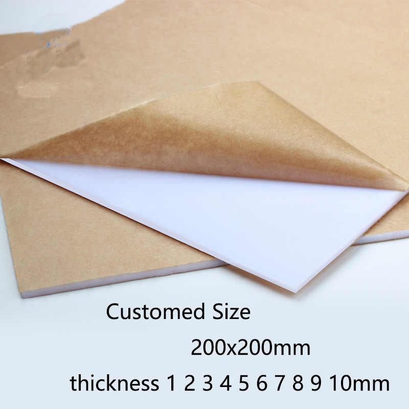 Pure White light Ivory Plexiglass plastic Sheet