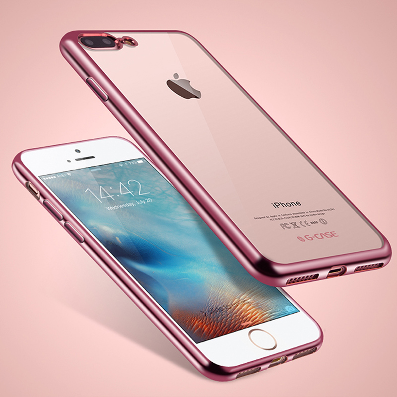 Plating Crystal Clear Coque Fundas for iphone X 8 7 7plus 6 6S plus Case Clear TPU Soft Cover for iphone se 5 5s Phone Cases