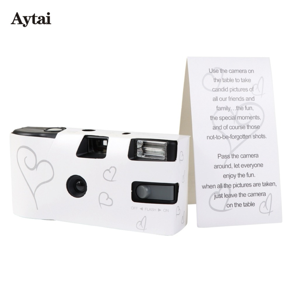 Aytai 10pcs Wedding Centerpieces Heart Disposable Cameras Wedding ...
