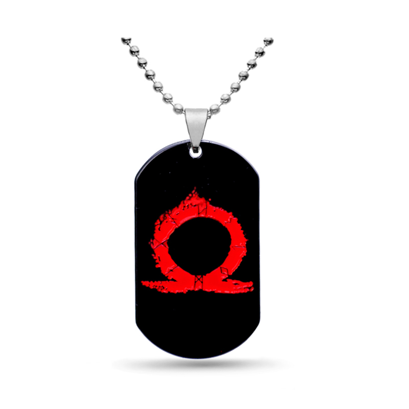 2018 New Game God of War 4 Necklace Black Metal Tag Pendant Beads Chain Choker Men Women Necklaces Charm Gifts Jewelry
