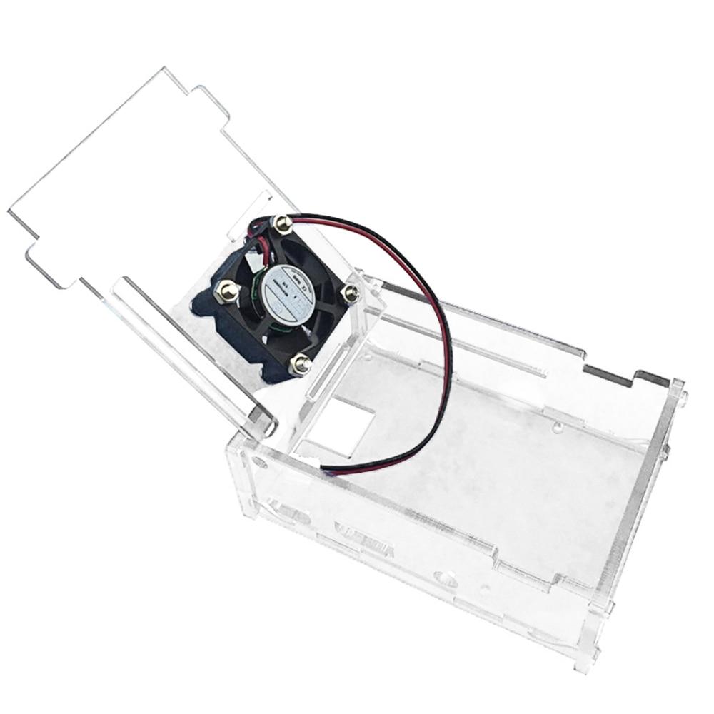 Elisona Transparent Acrylic Box Case Cover Skin Shell Cooling Fan Ventilator With Screws Set For Raspberry Pi 2 3 RPI Pi2 Pi3