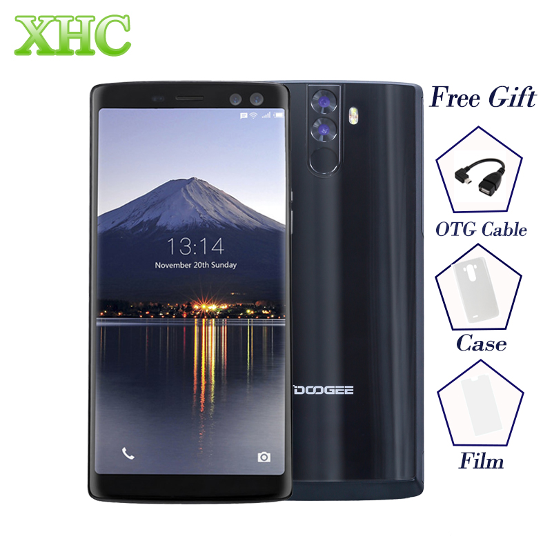 DOOGEE BL12000 PRO 6.0'' LTE 4G Smartphone Android 7.0 Octa Core 2160*1080 FHD 16MP+16MP 12000mAh OTG OTA Dual SIM Mobile Phones