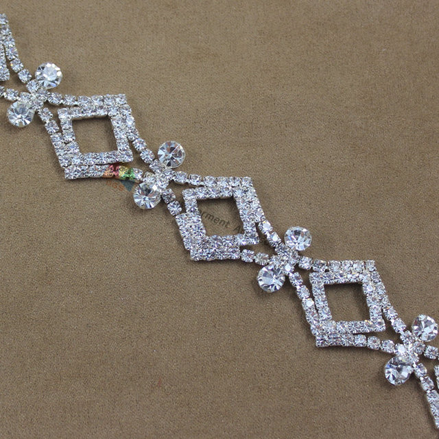 1Yard 20mm Luxury Czech Rhinestone Diamond Chain Costume Crystal Applique  Trims For DIY Browband Wedding Garment Accessories 261846fabd0e