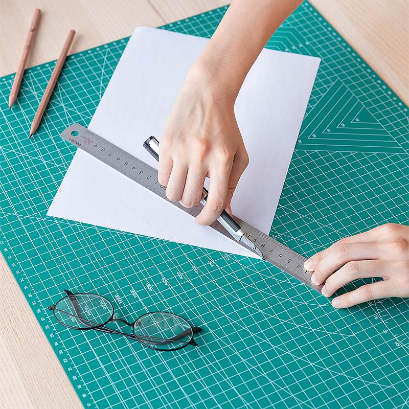 Deli 78400/78401/78402 PVC Cutting Mats A4 A3 A2 Cutting Mat Green Color