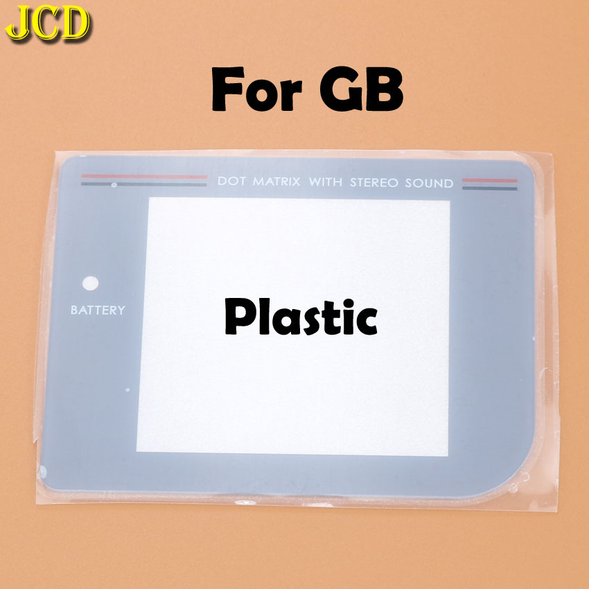 Image 2 - JCD 1Pcs New Glass Plastic Screen Lens cover For Nintend Gameboy Classic For GB Lens Protector-in Replacement Parts & Accessories from Consumer Electronics