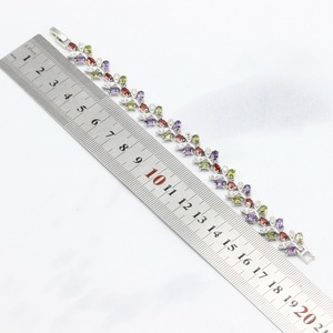 Image 5 - Conjuntos de joyería de boda de circonia cúbica Multicolor para mujer, conjuntos de joyas para mujer, pulsera, pendientes, collar, anillos colgantes, caja de regalo gratis