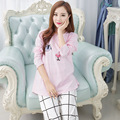 Maternity Dress Autumn winter Pajamas  Pregnant Women Breastfeeding Clothes   Long-sleeved cotton clothes  Pajamas suit