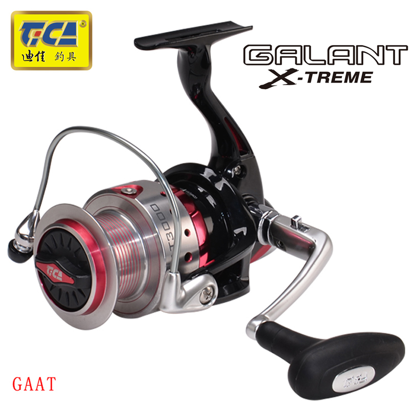 TICA 6RRB 1RB Gear Ratio 5 2 4 1 1 Spinning Fishing Reel with Exchangeable Handle