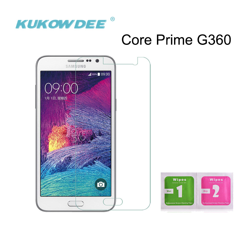 Protector de pantalla de vidrio templado de 2 piezas KUKOWDEE para Samsung G360 Core Prime G3609/G3608/G3606 película protectora