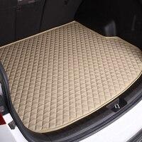 Custom Leather car trunk mat For Honda HR V 2017 waterproof boot carpets cargo liner mats for HRV 2018 2014,Free shipping