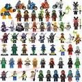 2017 HOT Compatível LegoINGlys NinjagoINGlys Define Heróis NINJA Cole Jay Kai Zane Nya Lloyd Com Armas Blocos de Brinquedo Figura de Ação