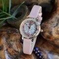 Chegada nova Julius Hot Selling Mulheres Dress Watch Moda Casual 5 cores Simples Relógio De Quartzo Amantes Relógio Reloj Mujer Gril presente
