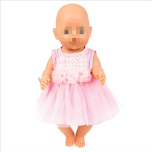 Hot Sale Fit 18 inch Doll Clothes Accessories Born New Baby Doll Flamingo pink yellow blue skirt Clothes For Baby Birthday Gift born new baby doll clothes fit 18 inch 43cm doll down dress yarn skirt flamingo watermelon accessories for baby birthday gift