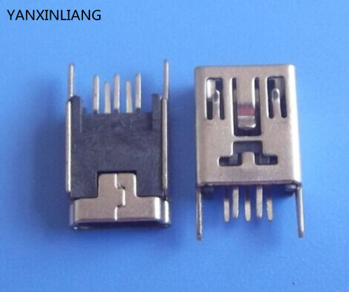 20PCS Mini USB Type B Female 5 Pin DIP 2 pin Vertical Leg PCB Socket Connector in Connectors from Lights Lighting