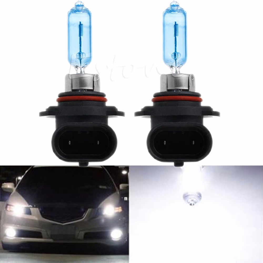 2 x White 9005/HB3 6000K Xenon Gas Halogen Headlight Light Lamp Bulbs 100W 12V JUN22 for honda nc700 s x 2012 2013 nc750 s x 2014 2015 2016 red motorcycle frame sliders crash protector bobbins falling protection