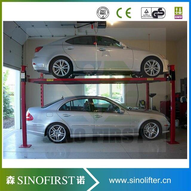 New Designed Safe Electric Garage Lift Storage System 4 Post Home Car