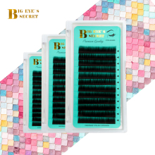 BES Silk Cilios Soft Individual Eye lash Extensions Volume Lash Fans False Eyelash 8-15 Mix Natural Classic Single