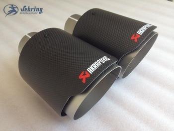 1 pièces arbon fibre AKRAPOVIC en acier inoxydable universel Automobile tuyau d'échappement silencieux voiture accessoires modification passat golf e90|Silencieux| |  -