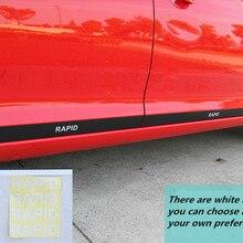 Углеродное волокно, 4 шт./лот, украшение для двери, наклейка для автомобиля, Стайлинг для Skoda- Rapid/Rapid Spaceback