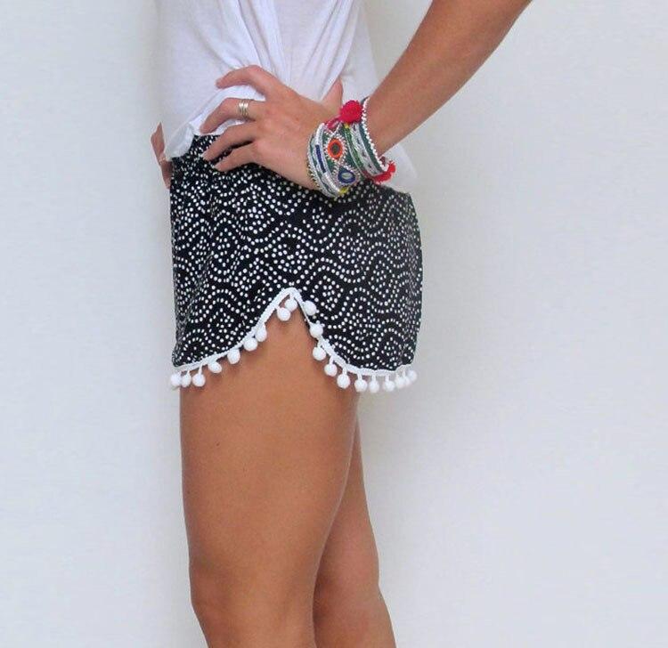 Женские шорты с высокой талией и цветочным принтом, летние шорты для пляжа