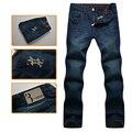 El multimillonario de alta costura italiana de los hombres pantalones vaqueros de 2016 del nuevo estilo cómodo bordado ocasional comercial de estos últimos pantalones envío gratis