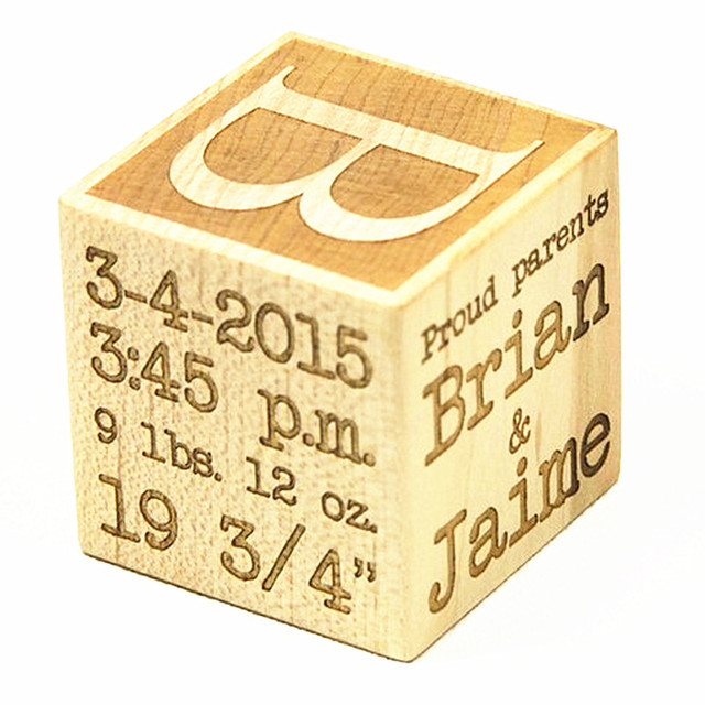 Us 25 0 Personalized Baby Name Block New Baby Gift Wood Baby Shower Block Customized Baby Block Engraved New Parents 1st Birthday Decor In