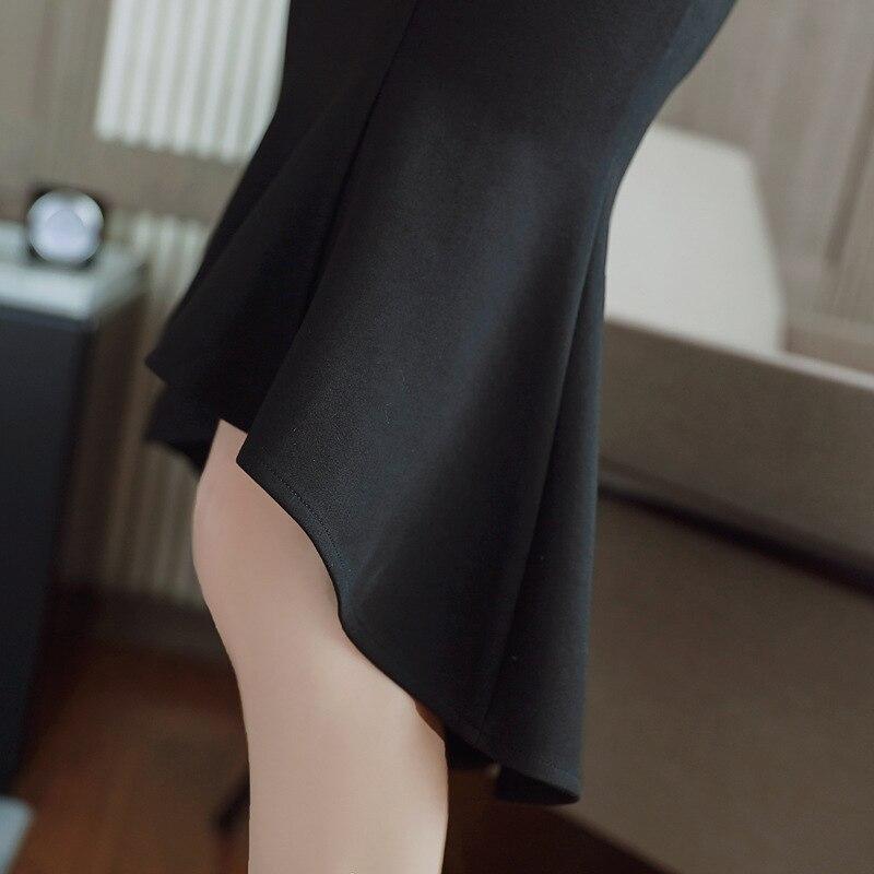 Vintage Strapless Sleeveless Bandage Bodycon Mermaid Midi Dress