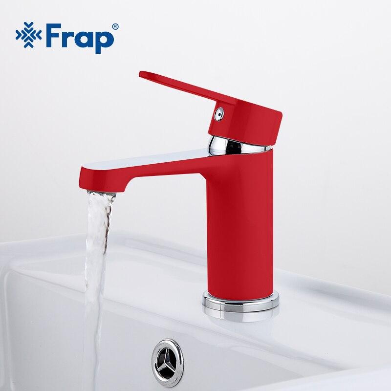 Кран для раковины FRAP F1043, кран с красными красками для ванной комнаты, смеситель для раковины, латунный кран для холодной и горячей воды