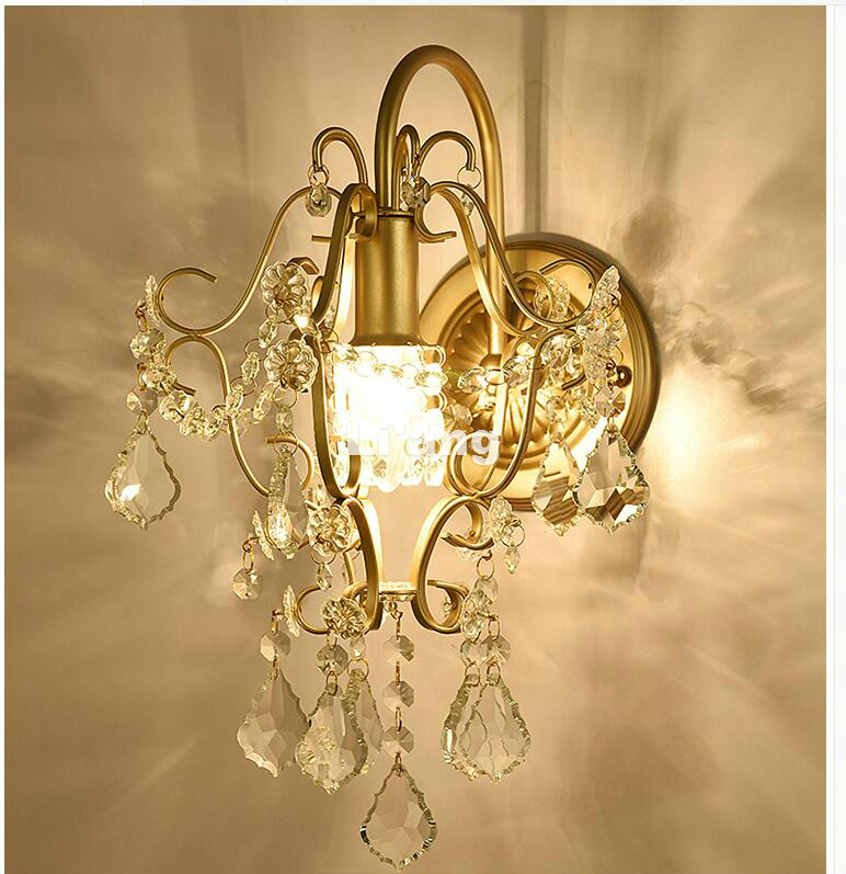 New K9 Art Decora Golden/Silver European Style Crystal Wall Lamp Bedroom Home Wall Sconce Lighting 100% Guaranteed Free Shipping серьги art silver art silver ar004dwzmh30