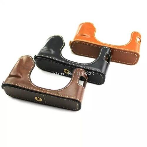 Classical New Arrival Half Body Set Cover Shoulder Strap for Fujifilm Fuji X-100 X100 U Leather Camera Bag Case