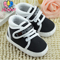 JENNY kids! Newborn baby girls and boys first walker infant child solid color lace-up non-slip soft soles shoes for baby 0-1