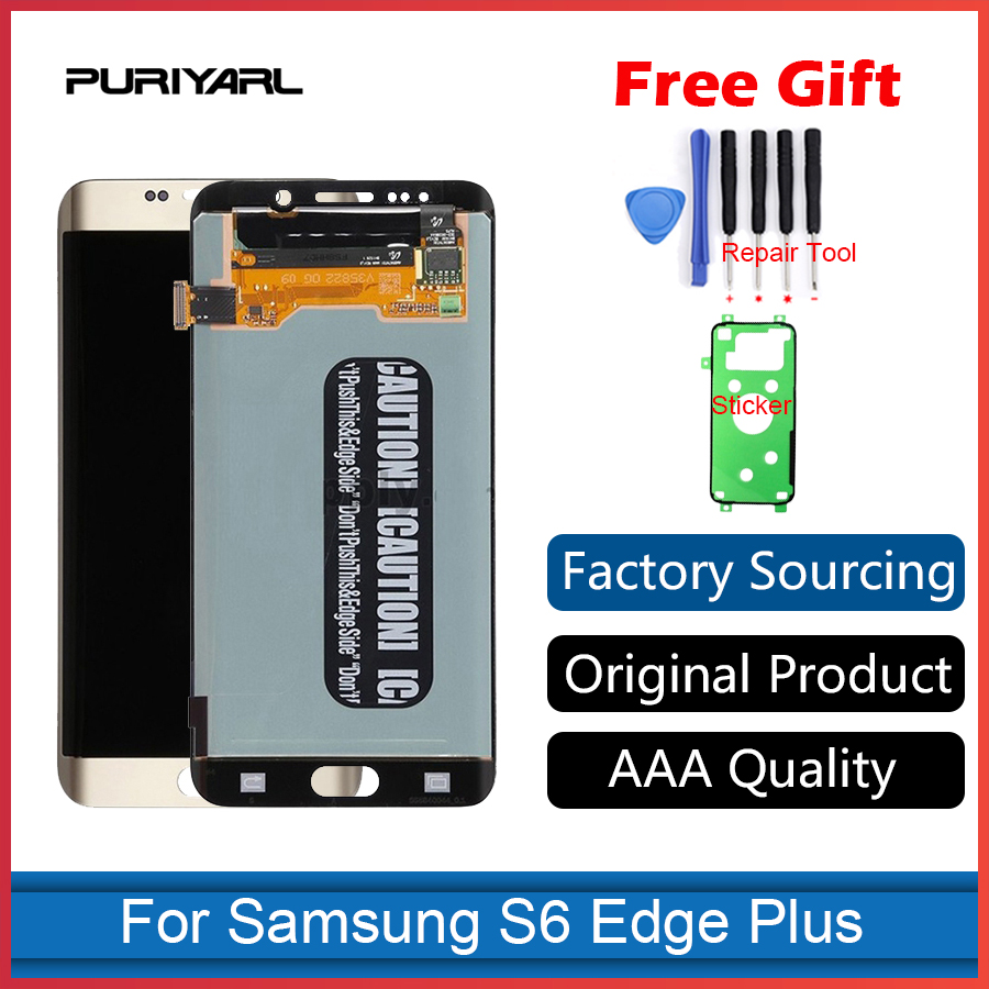Original Super Amoled LCD Display For Samsung Galaxy S6 Edge Plus G928 G928F With Touch Screen Digitizer Assembly ReplacementOriginal Super Amoled LCD Display For Samsung Galaxy S6 Edge Plus G928 G928F With Touch Screen Digitizer Assembly Replacement