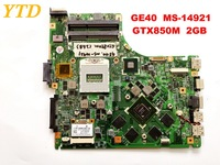 Original for MSI GE40 MS 14921 laptop motherboard GE40 MS 14921 GTX850M 2GB tested good free shipping