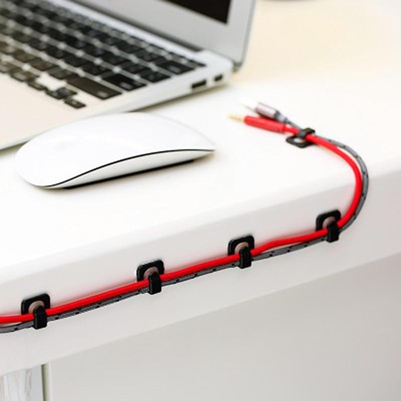 Cable Cords Fixer - Desk Organizer w/ Adhesive Clamp 2
