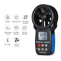 Anemometer Digital Tachometer Wind Meter Speed Meter Chill Indicator/Temperature Humidity/Barometric Pressure/Altitude Meter