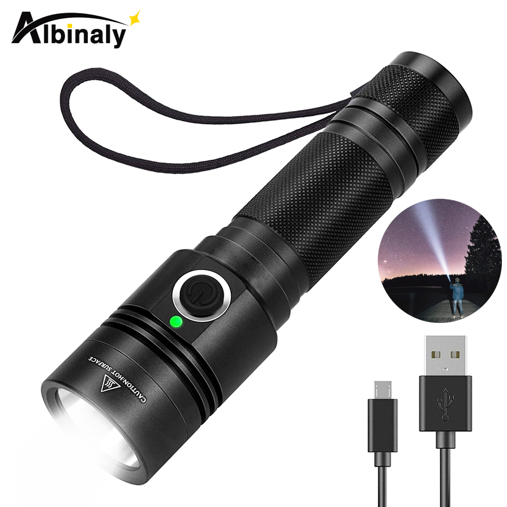 Usb Rechargeable Flashlight 4 Lighting Mode Super Bright Led Flashlight Use 18650 Battery For Night Lighting, Camping, Etc.