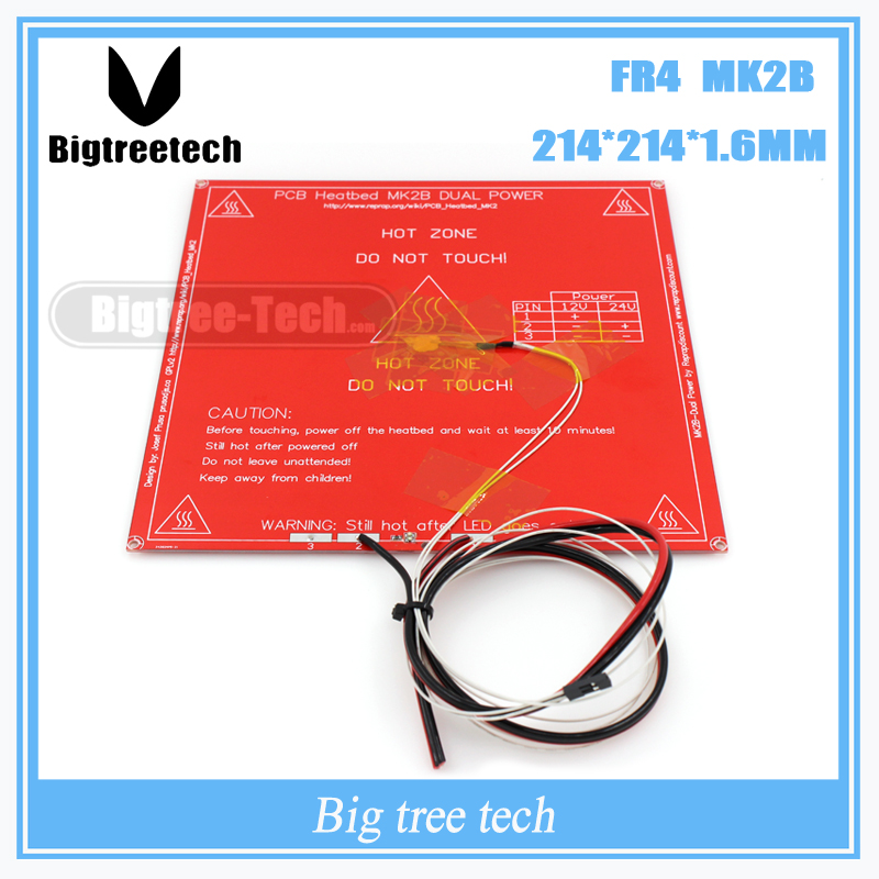 3D Printer Parts MK2B Heated+LED+Resistor+Cabel+100K ohm Thermistors PCB Heated Bed With three color