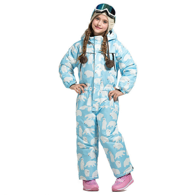 Ski wear for boys and girls outdoor thermal insulation breathable waterproof and snowsuit