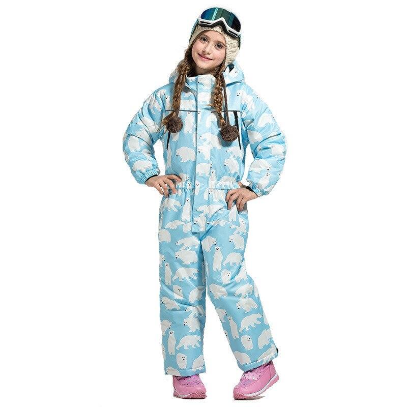 Vêtements de ski pour garçons et filles isolation thermique extérieure respirante imperméable et snowsuit